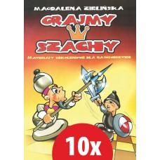 """10x """"Grajmy w szachy cz.1"""" Magdalena Zielińska ( K-3386/1/10 )"""