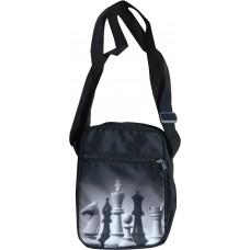 Męska saszetka na ramię z motywem szachowym (A-102)