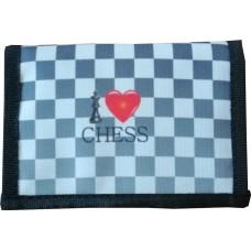 """Portfel z motywem szachowym """"I LOVE CHESS"""" (A-108)"""