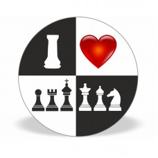 "Magnes ""I LOVE CHESS"" szachownica (A-87)"