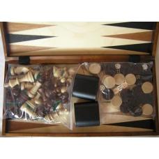 Szachy + Backgammon+ Warcaby  w jednym -(Duży zestaw) (CCB-3)