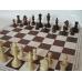 6x ZESTAW: Figury drewniane Staunton nr 5 w wor + Szachownica z tworzywa nr 6 składana na dwa ( Z-14 )