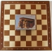 """Zestaw: Figury """"Staunton nr 4"""" w kasetce drewnianej + deska drewniana (Z-9)"""