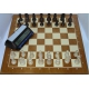 Zestaw: Zegar DGT 2010 + Staunton nr 5 w woreczku + deska drewniana (ZK-5)