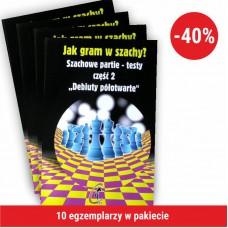 """10x IM W. Kostrow """" Debiuty półotwarte. Partie-testy. Jak gram w szachy?"""" ( K-441/2/10 )"""