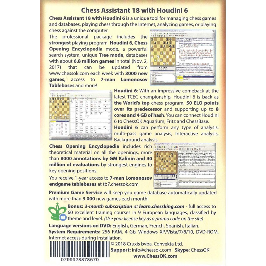 Chess Assistant 18 z Houdini 6 (P-0034)