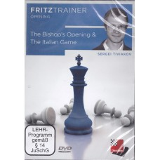 "Sergei Tiviakov ""The Bishop's Opening & The Italian Game"" Fritztrainer Opning ( P-402 )"