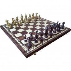 Szachy średniowieczne złote na wypalanej szachownicy (S-168)