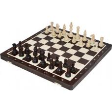 Szachy turniejowe składane nr 4 wenge intarsja (S-11/wenge)