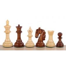 Figury szachowe Colombian Akacja/Bukszpan - turniejowe nr 6 - Rzeźbione Drewniane (S-208)