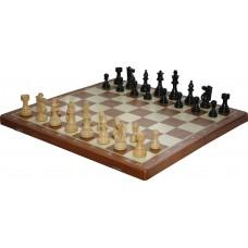 Szachy Turniejowe Składane Nr. 6 FRENCH czarne (S-161)