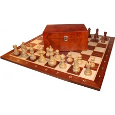 Figury szachowe Staunton Deluxe w kasetce exclusive ( S-83/brąz )