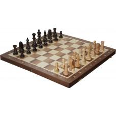 Szachy turniejowe składane nr 5 orzechowe intarsja (S-12/orzech)