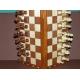 Szachy drewniane magnetyczne intarsja (S-21)