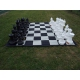 Szachownica brezentowa do szachów ogrodowych (plenerowych, parkowych) ( S-43/sz/br)