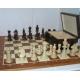 Zestaw: Figury szachowe Staunton nr 5 w kasetce + szachownica drewniana nr 5 - standard turniejowy  (Z-34)