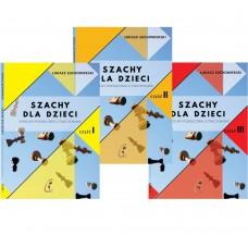 Szachy dla dzieci. Szkolny podręcznik z ćwiczeniami. Komplet 3 części - Łukasz Suchowierski (K-5874/kpl)
