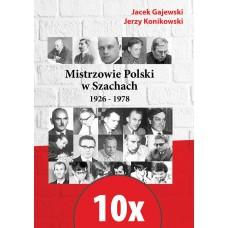 10x Mistrzowie Polski w Szachach - część 1 - 1926-1978 (K-5849/10)