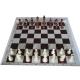 6 x Zestaw Klubowy II: Figury szachowe Staunton nr 5/II + szachownica zwijana (Z-24)