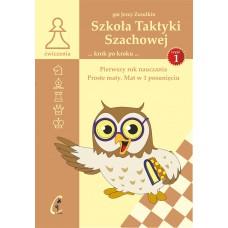 """gm J. Zezulkin """"Szkoła Taktyki szachowej. Pierwszy rok nauczania. Proste maty. Mat w 1 posunięciu"""" ( K-3685/1)"""