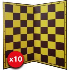 10 x Szachownica tekturowa standard turniejowy nr 6 lub nr 5 (S-28/10)