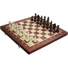 Szachy turniejowe składane nr 4 - intarsja mahoń (S-11/II/M)