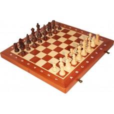 Szachy turniejowe składane nr 4 intarsja mahoń(S-11)