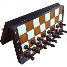 Szachy drewniane magnetyczne duże-  Extra wypalane (S-140/B)