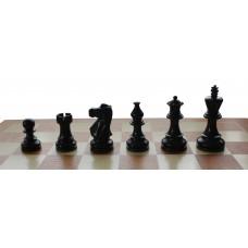 Figury szachowe AMERICAN czarne - turniejowe nr 5 (S-163)