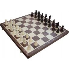 Szachy turniejowe składane nr 6 orzechowe (S-16/orzech)
